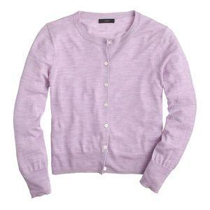 J. CREW Tilly Cardigan Merino Wool Lavender {M39}